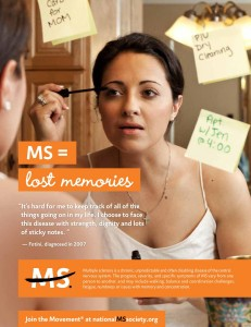 MS Society ad featuring Fotini