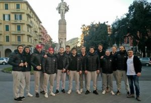 Daniel with his teammates in Italy