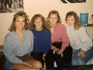Jenny (Nachtigall) Kroeker with friends (early 1990's)