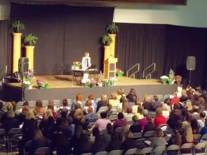 Sally Rogers speaking as keynote